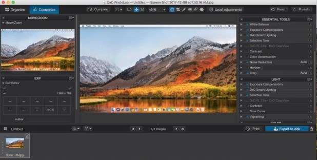 DxO PhotoLab 2.1.0 for Mac