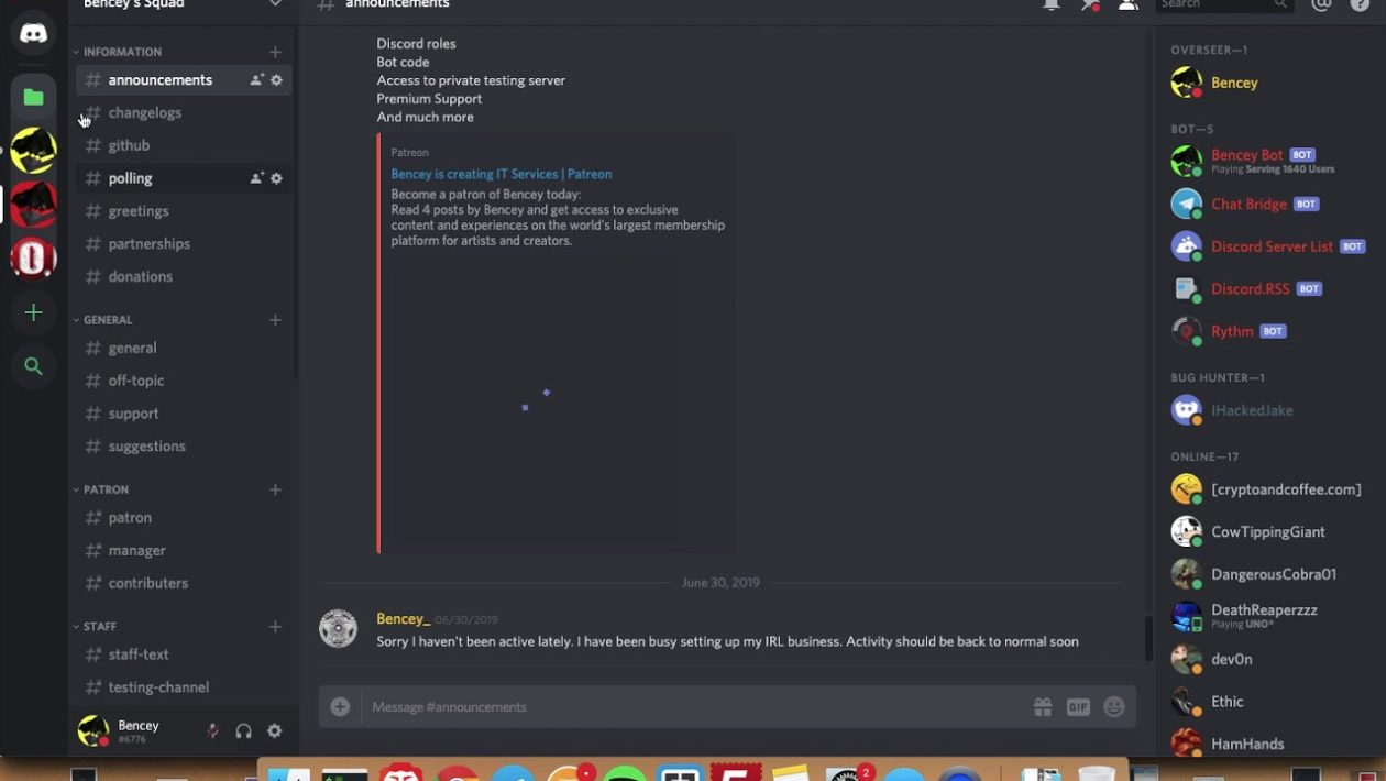 discord server folder