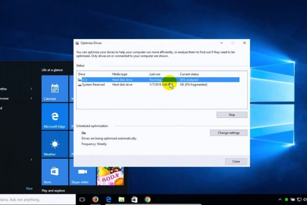 how to defrag windows 10