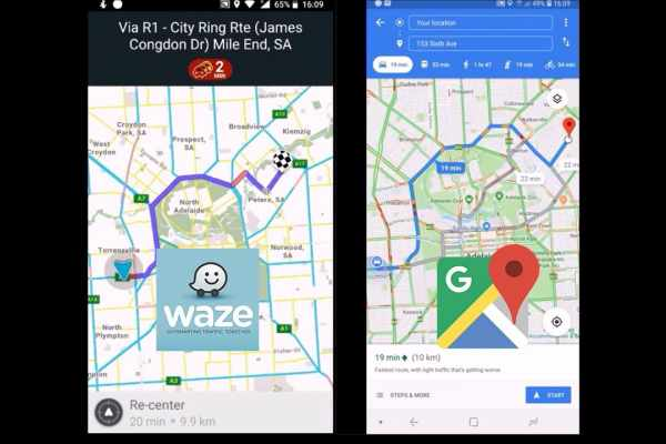 Waze vs Google maps