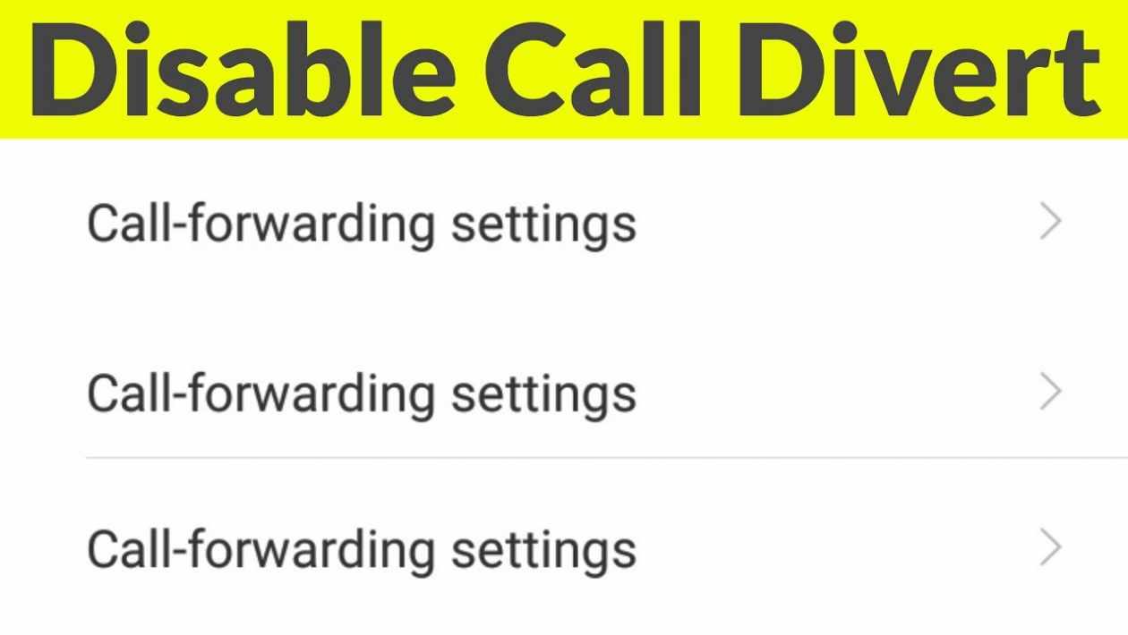 how to cancel call forwarding