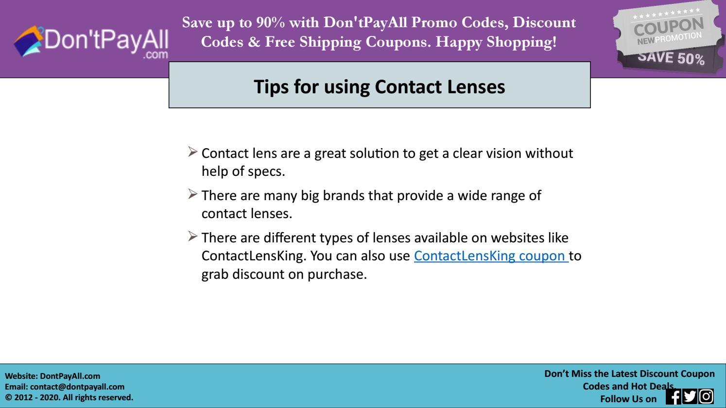 Contact Lens King Coupon