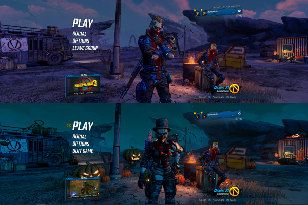 borderlands 3 split screen