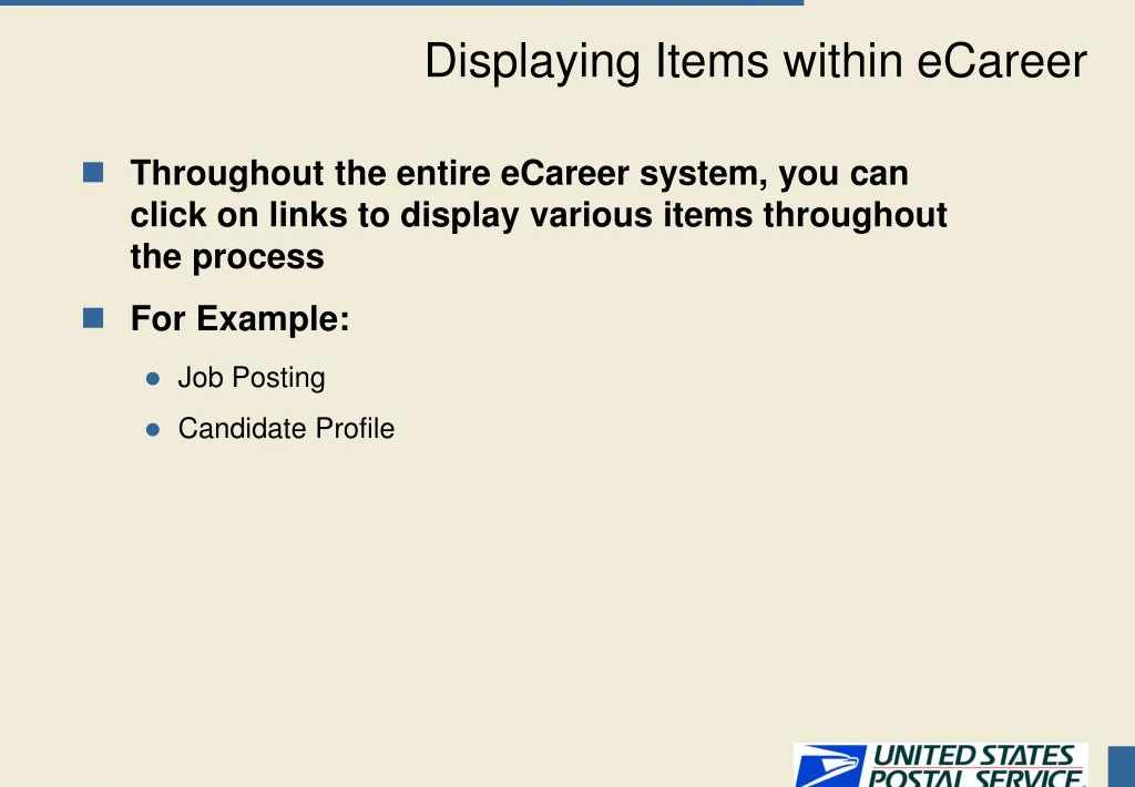 usps ecareer candidate profile