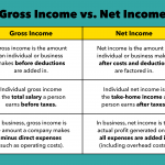 Gross income vs net