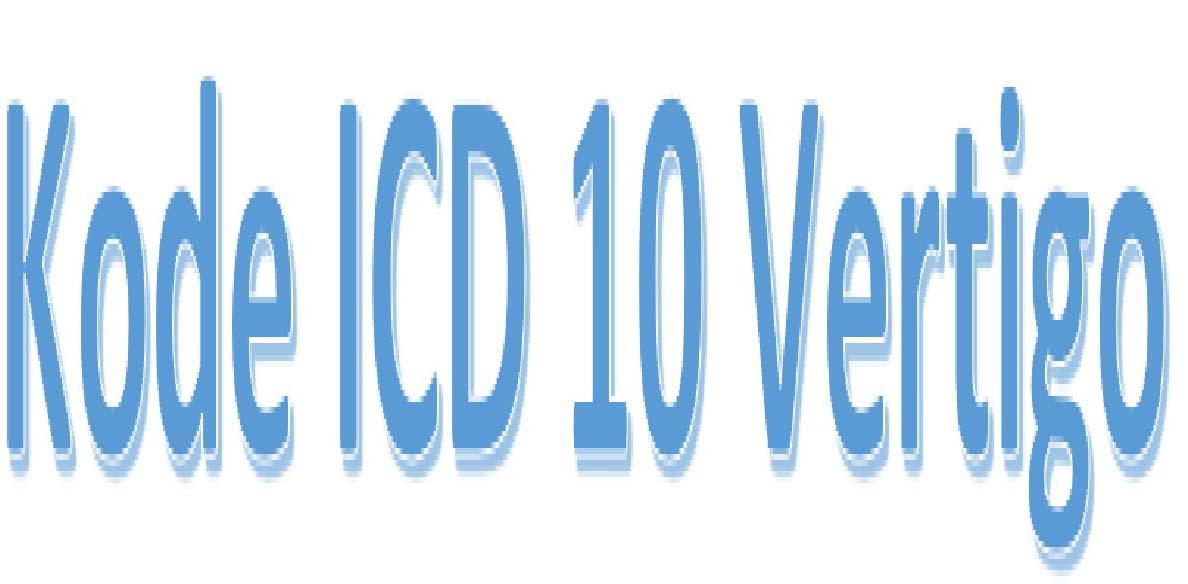 Kode ICD 10 vertigo