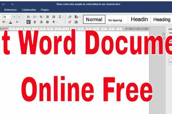 edit word document online free