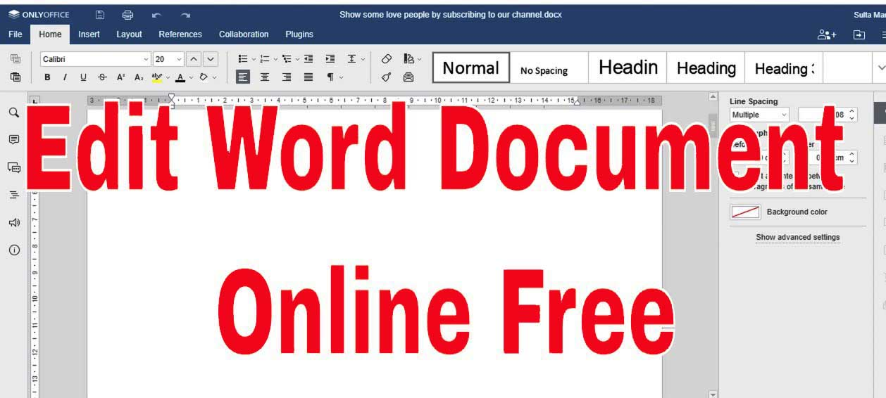 edit word document online free