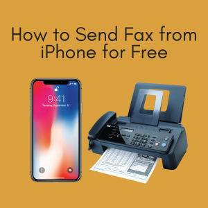 Can you fax from an iphone